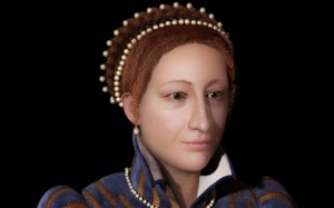 Computer graphic recreation of Mary Queen of Scots