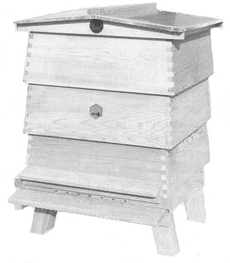 The traditional WBC hive named after its inventor, William Broughton Carr (1890)