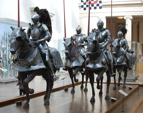 Medieval knights armour