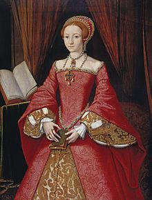The young princess Elizabeth, circa 1546