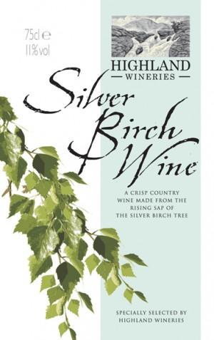 Silver birch wine label, courtesy of Higland Wineries