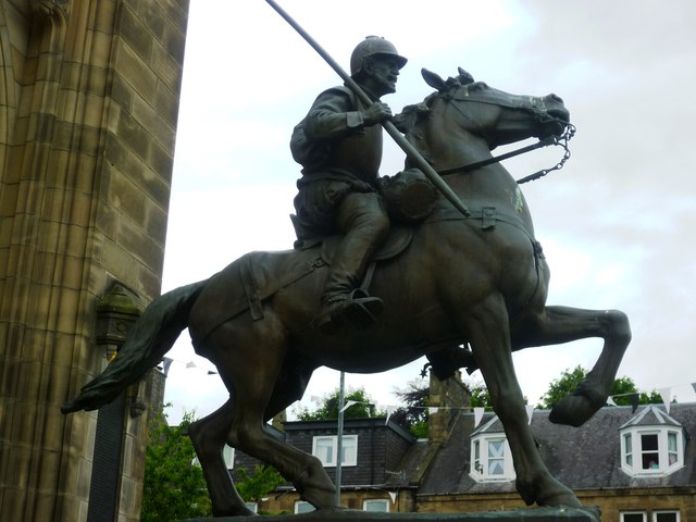 Border Reiver Statue in Galashiels