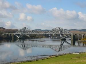 Connel Bridge, built during the construction of Ballachulish railway, now a road bridge.