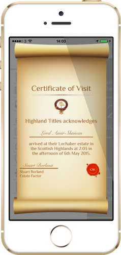 lochaber-visit-certificate-with-frame