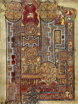 Celtic Christians: Book of Kells, page 292 (cover page to Gospel of St John)