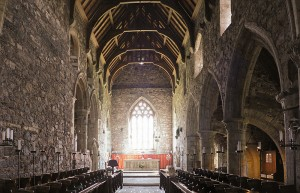 Celtic christians: medieval church at Iona Abbey