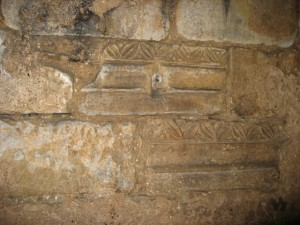 Celtic stone building at Hexham Abbey