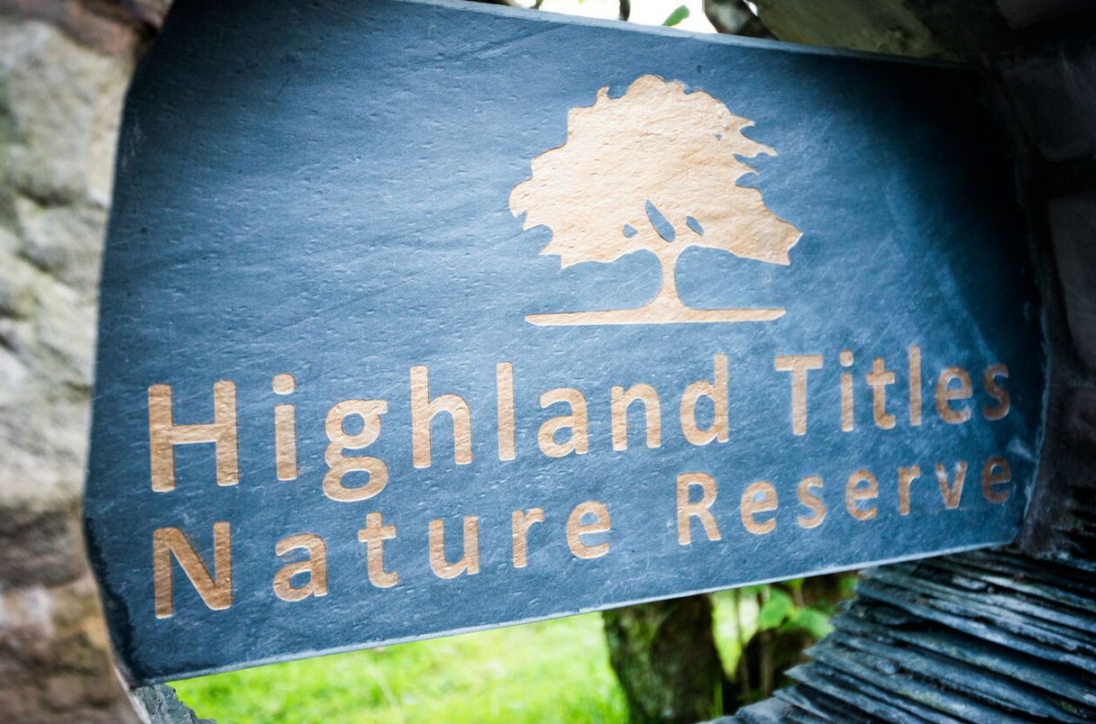 highland titles welcome sign