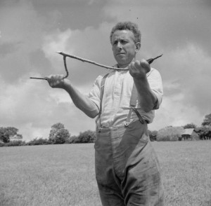 Hazel rod used for divining water