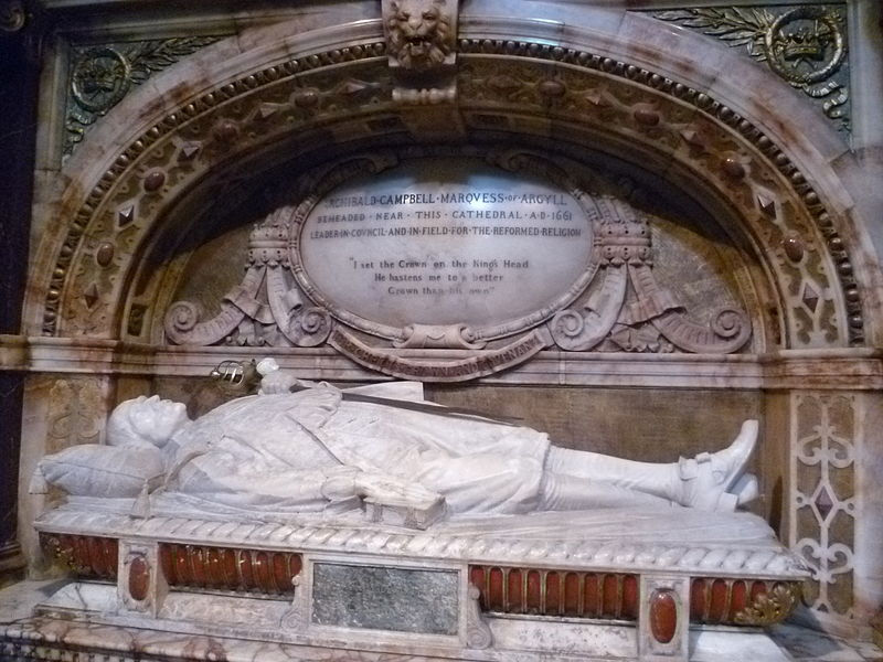 Memorial to Archibald Campbell, 1st Marquis of Argyll, St. Giles High Kirk Edinburgh