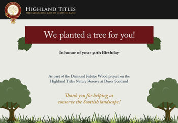 Dedicate a Tree in the Caledonian Forest