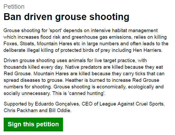 Sign petition now