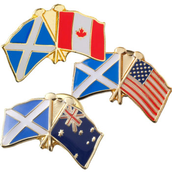 Crossed Flag Pin