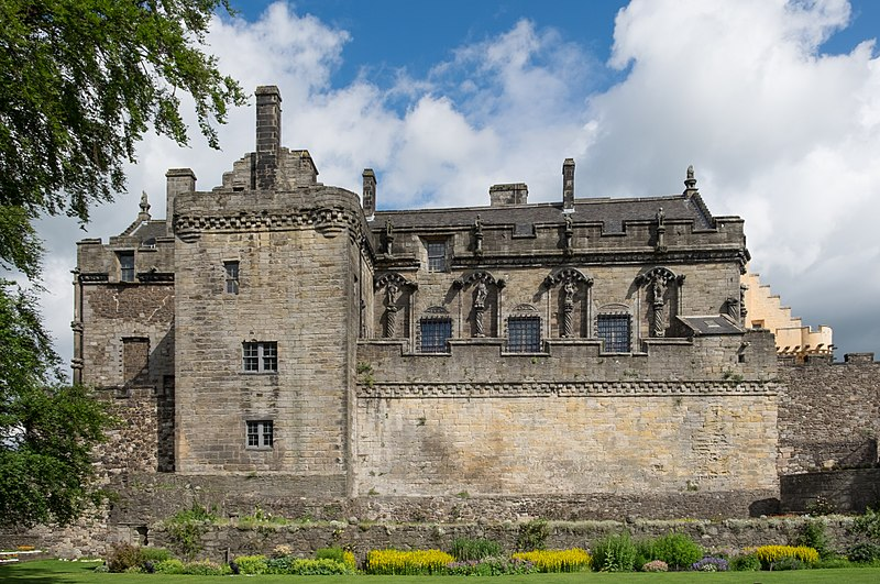 The Royal Palace in Stirling Castle viewed from the Queen Anne Garden