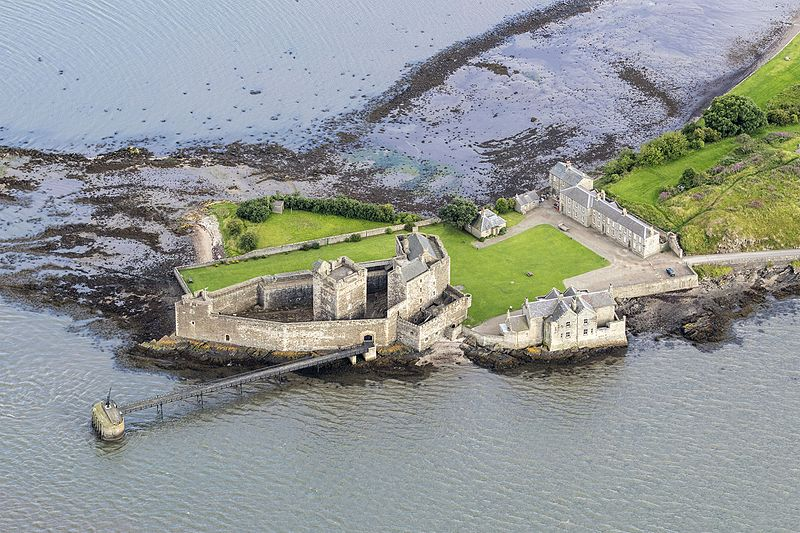 Far Aerial View of Blackness Castle