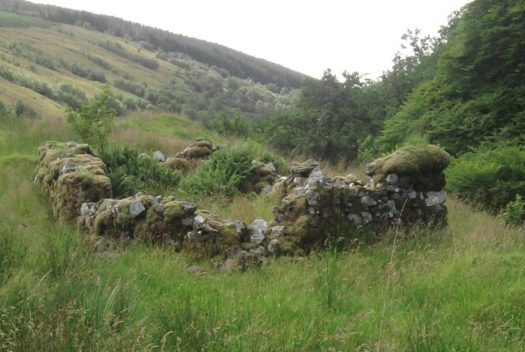 The remains of Rob Roy MacGregor's house in upper Glen Shira