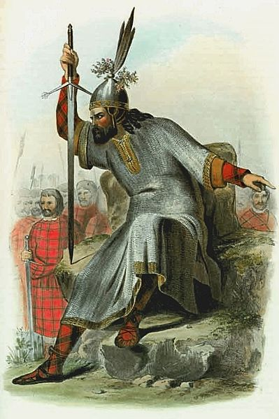 Victorian illustrator's depiction of a MacDonald, Lord of the Isles