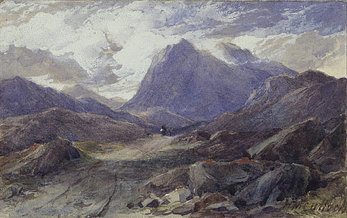 Watercolour of Glencoe by Horatio McCulloch.