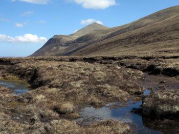 Bog and peat banks in Ben Klibreck