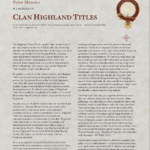 Clan Highland Titles
