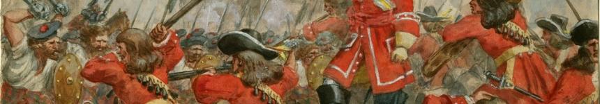 The Battle of Dunkeld, part of the Jacobite risings