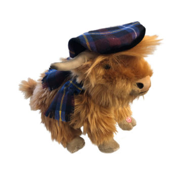 Highland Cow Stuffed Toy with Noises