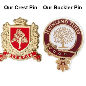 Highland Titles Crest Pins