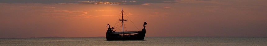 Viking Ship In the Sunset