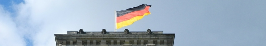 Germany Flag in the The Reichstag