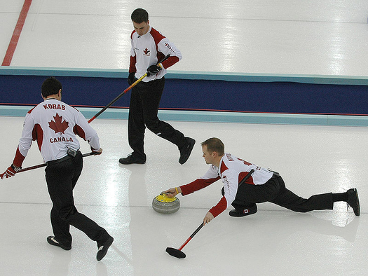 Canada Playing Curling in Torino, 2006