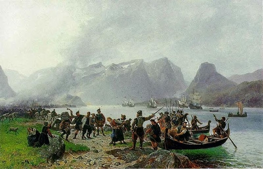 Landing of Scottish Forces at Isfjorden by Tidemand