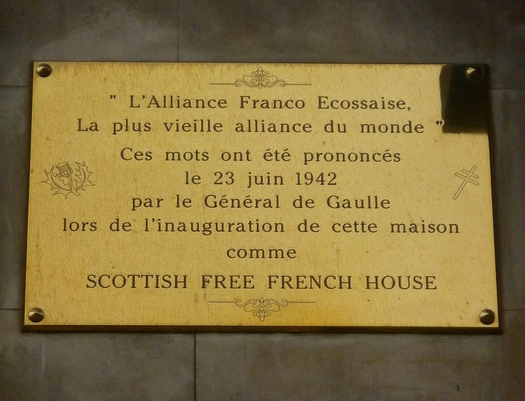 Scottish Free French House Plaque