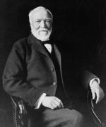 Andrew Carnegie, American businessman and philanthropist.