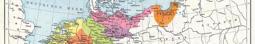 Map showing extent of the Hanseatic League