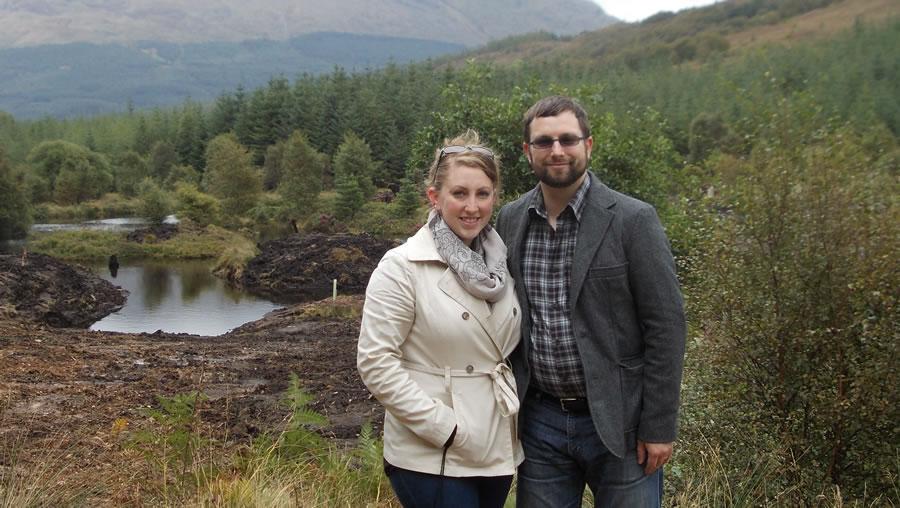 Un couple sur la Réserve Naturelle