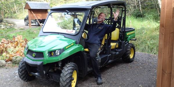 Stewart and the 4x4 Gator