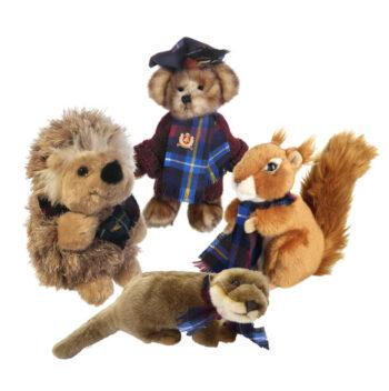 Teddy Bear, Otter, Hedgehog & Red Squirrel Soft Toy