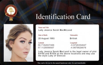 Official Highland Titles Photo ID Card