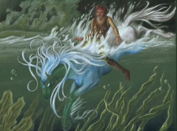 Water Kelpie spirits most commonly appear in the form of a horse.