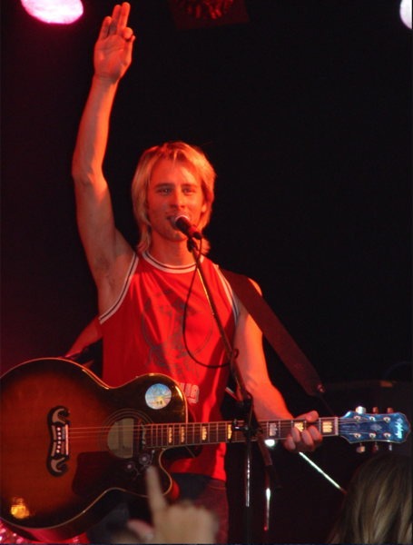 Singing sensation, Chesney Hawkes, at the height of his fame.